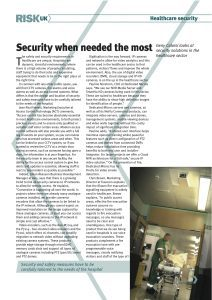 Risk UK - Geny Caloisi looks at security solutions in the healthcare sector