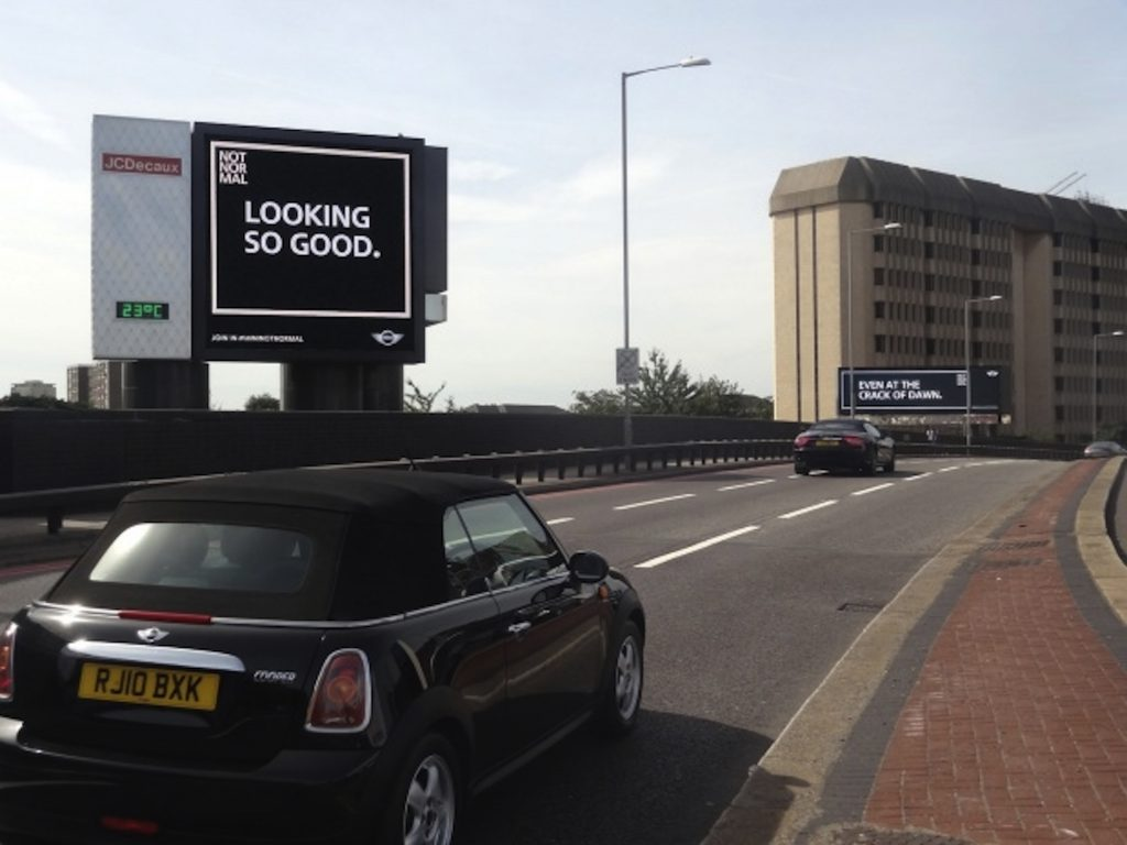 Companies are now targeting customers more effectively, as demonstrated by the Mini DOOH campaign
