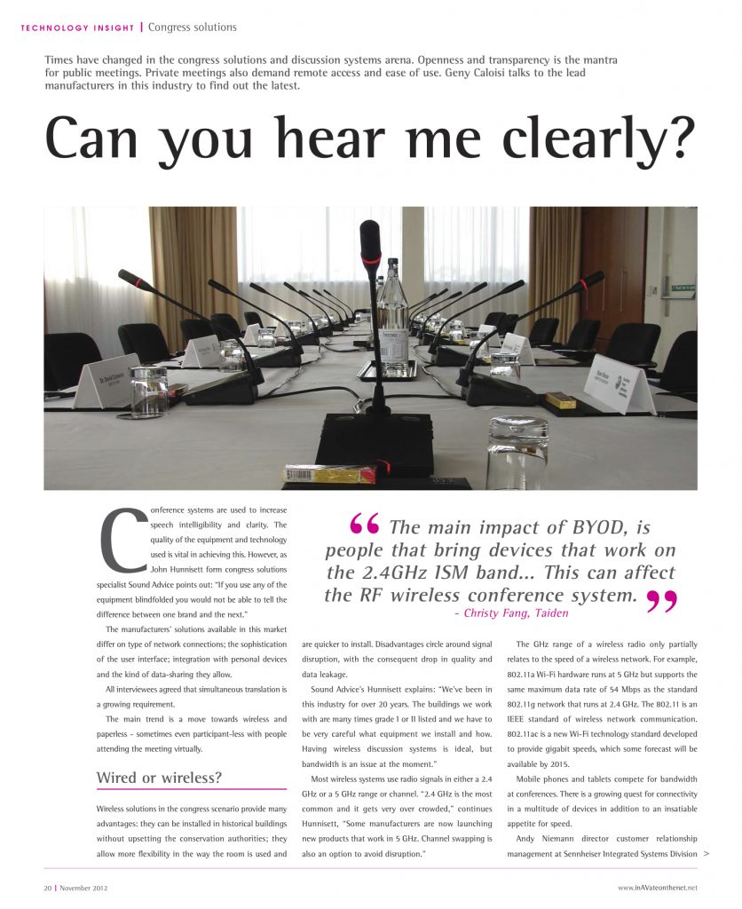 InAVate, technology insight - Can you hear me clearly?