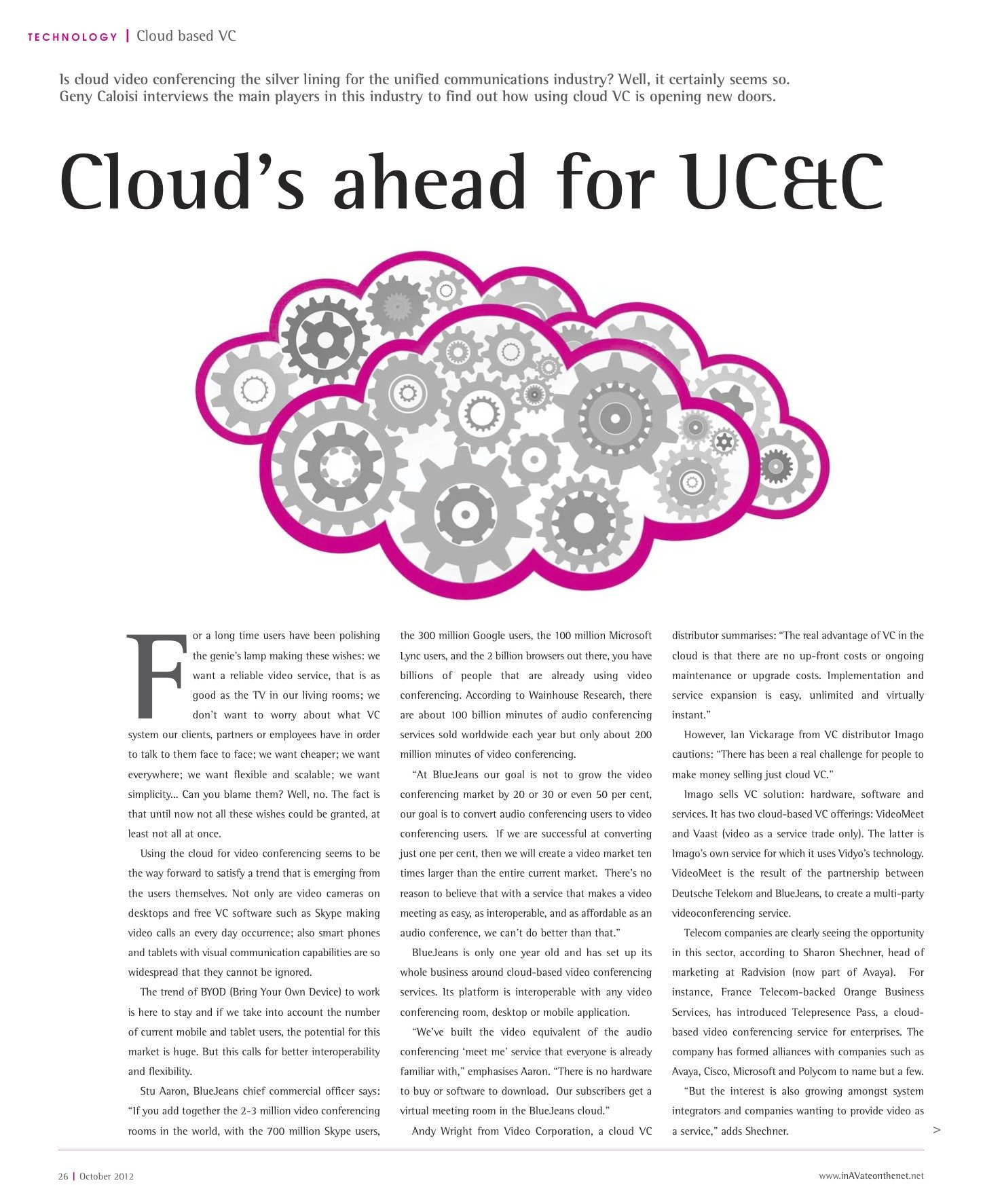 Cloud's ahead for UC&C - Geny Caloisi