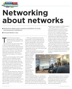 InAVate, what's new AV networking - Networking about networks