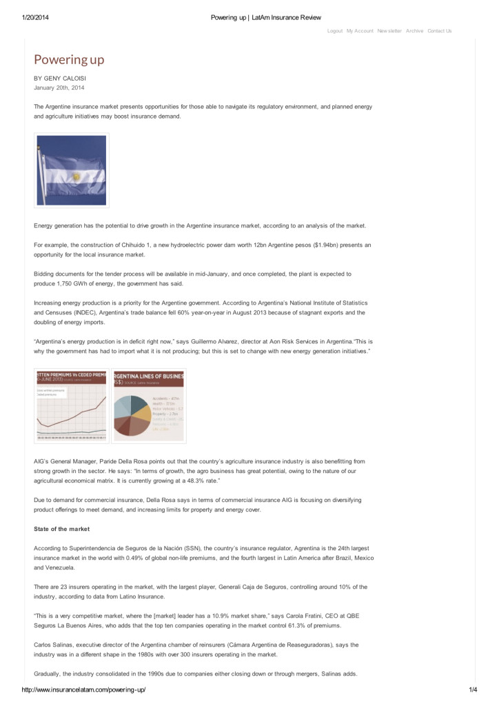 LatAm Insurance Review -  Powering up