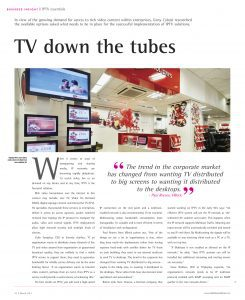 InAVate, business insight - TV down the tubes