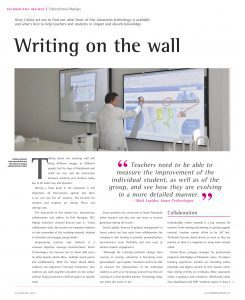 InAVate, technology insight - Writing on the wall